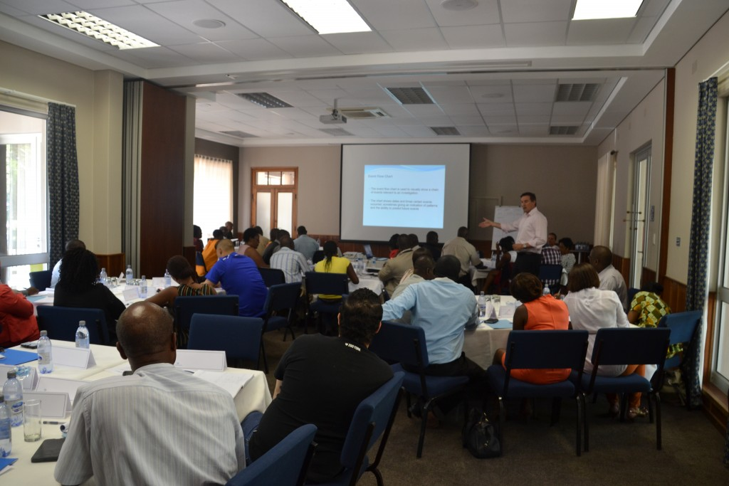 AMLSI Director Todd Harland delivering a workshop in Tsumeb, Namibia.